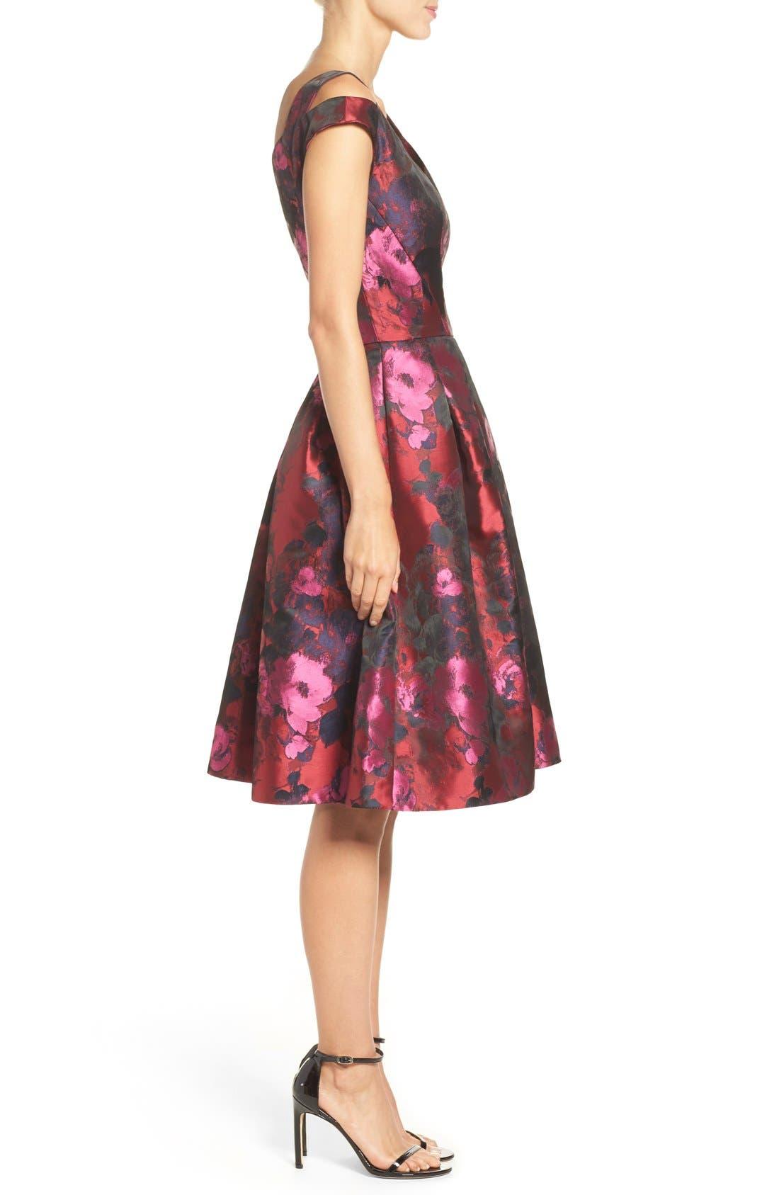 Alternate Image 3  - Maggy London Cold Shoulder Dress (Regular & Petite)