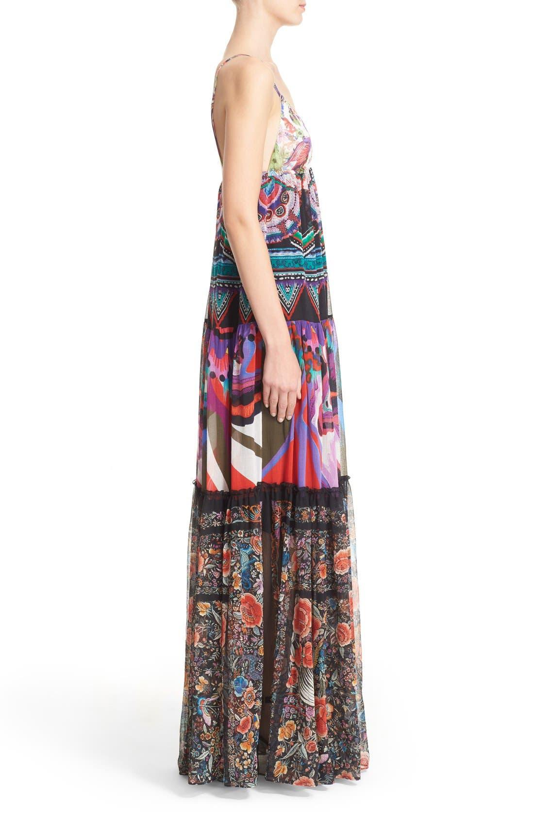Alternate Image 4  - Roberto Cavalli Print Silk Maxi Dress