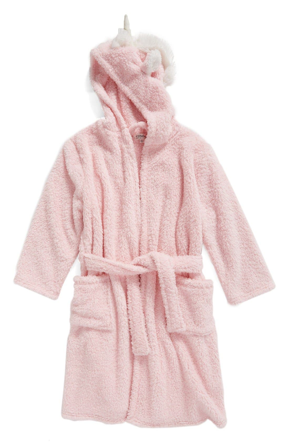 Main Image - PJ Salvage Unicorn Hooded Robe (Little Girls & Big Girls)