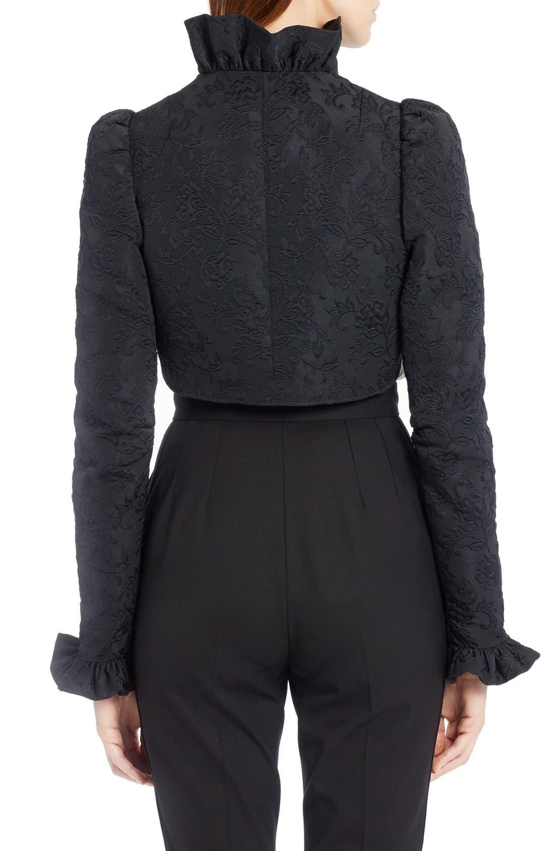Alternate Image 2  - Dolce&Gabbana Ruffle Jacquard Bolero Jacket