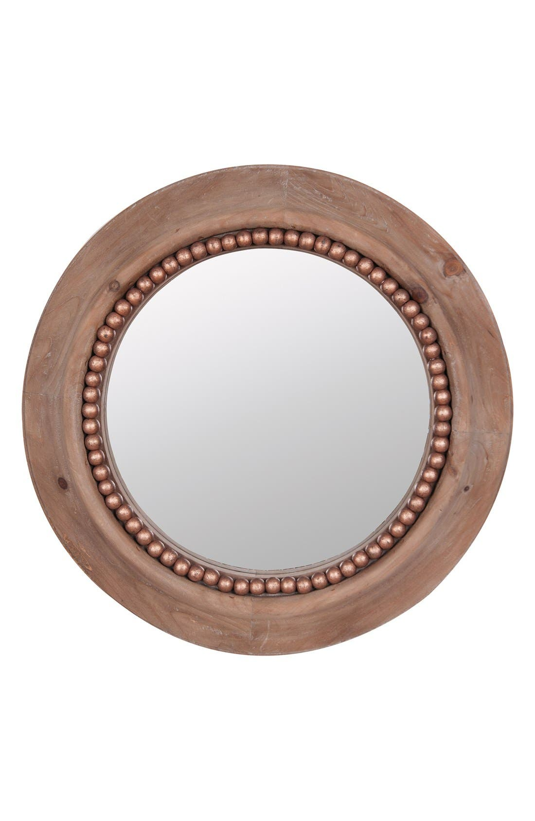 Alternate Image 1 Selected - Foreside Round Beaded Wall Mirror