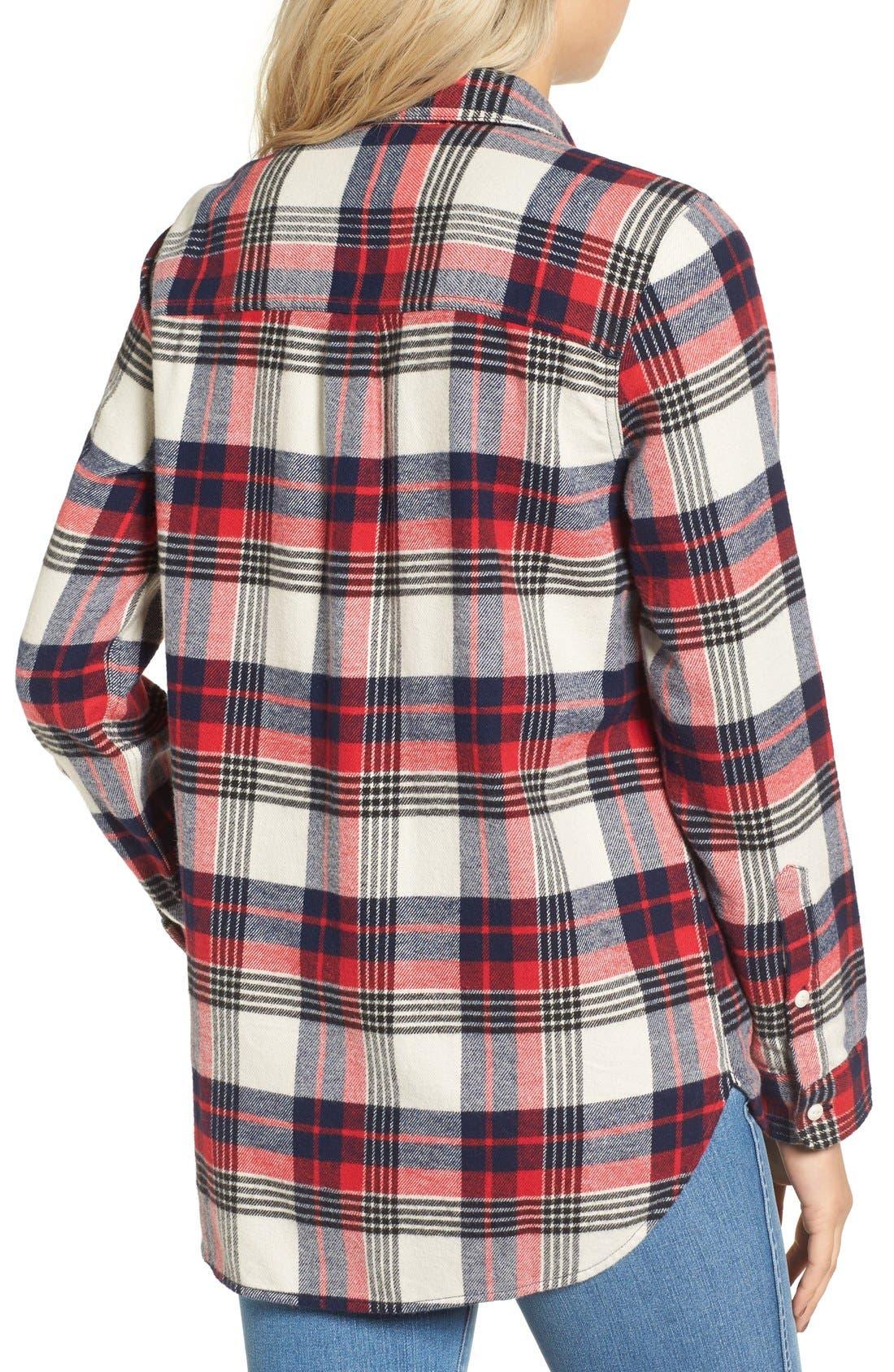 Alternate Image 2  - Madewell Ex Boyfriend Plaid Flannel Shirt