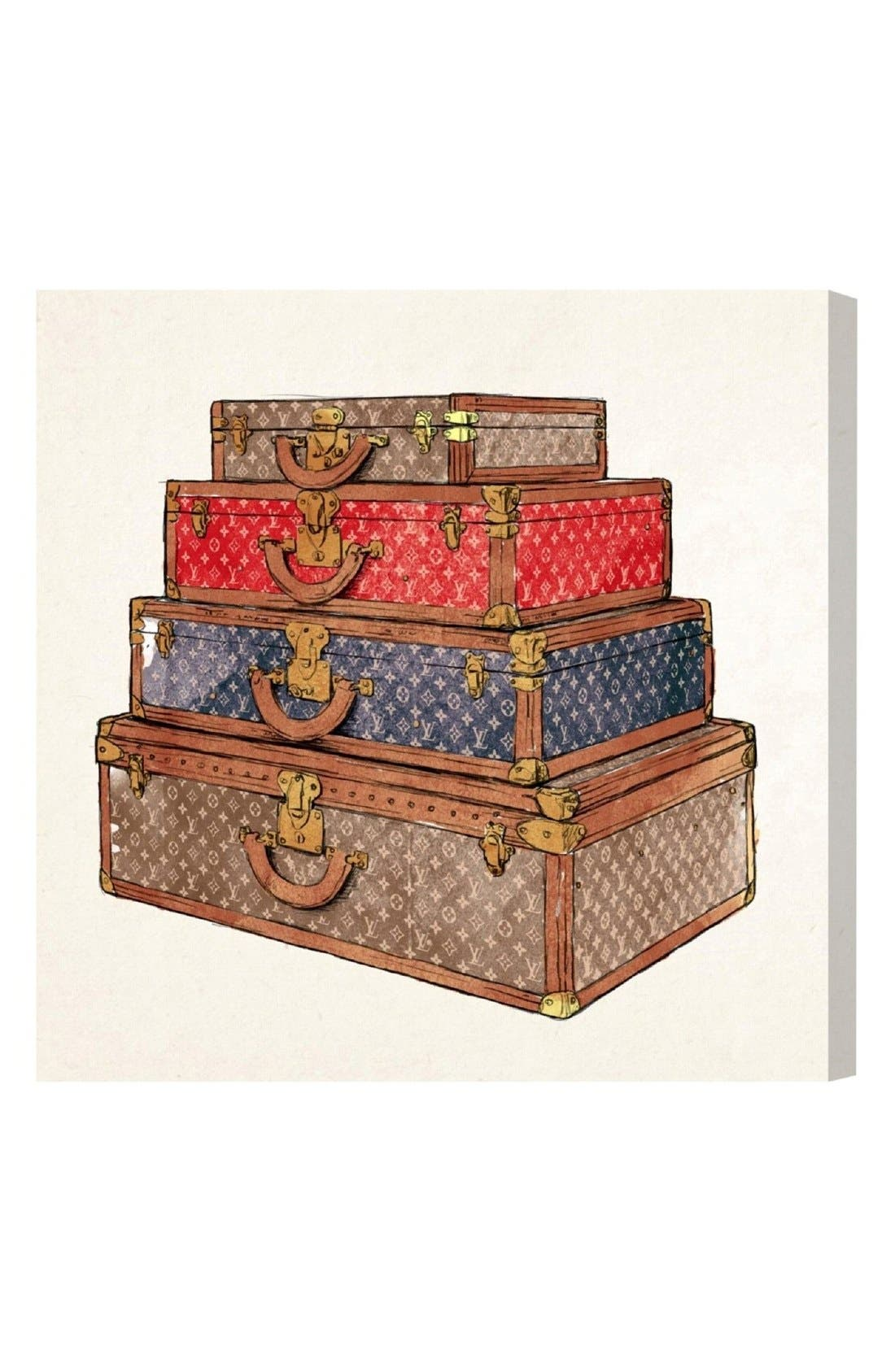 Oliver Gal The Royal Luggage Canvas Print