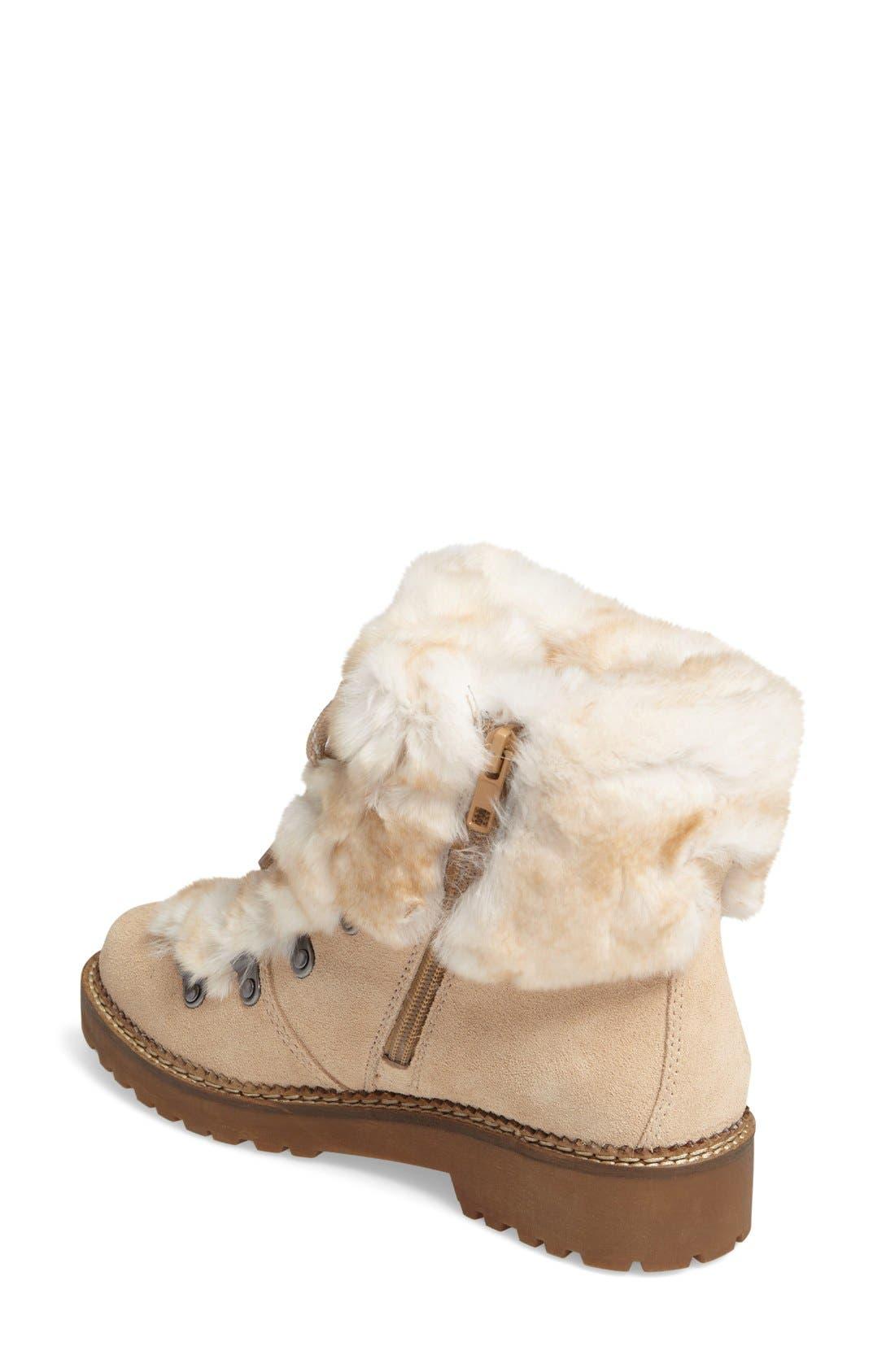 Alternate Image 2  - Arturo Chiang 'Philippa' Genuine Rabbit Fur Hiking Boot (Women)