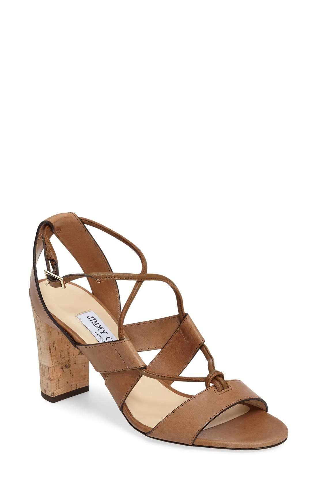 JIMMY CHOO Margo Ghillie Laced Sandal