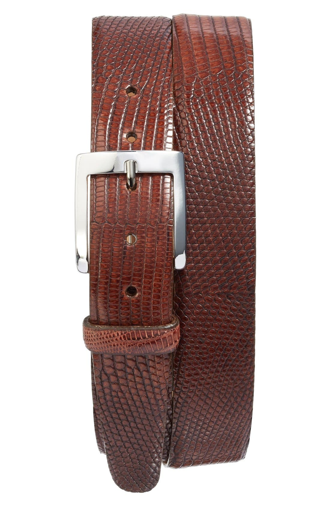 MARTIN DINGMAN Jacob Genuine Tejus Lizard Leather Belt