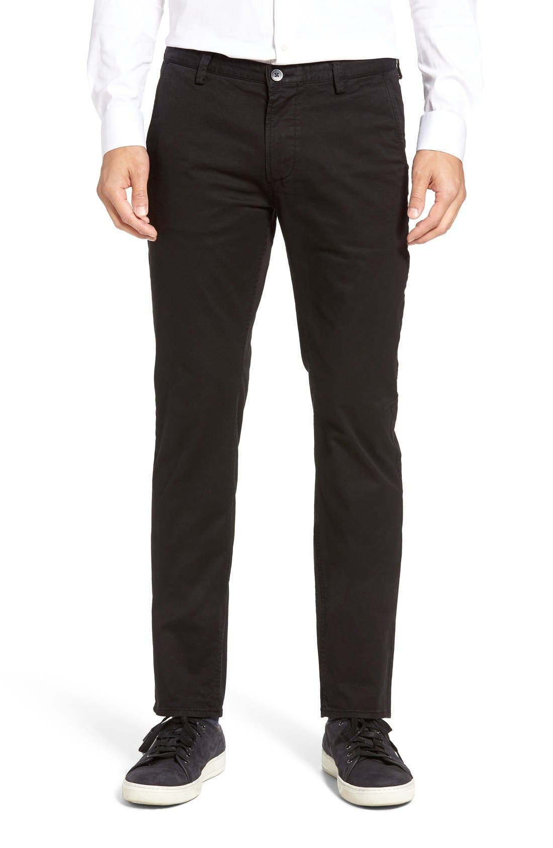 Alternate Image 1 Selected - BOSS 'Rice' Slim Straight Leg Pants
