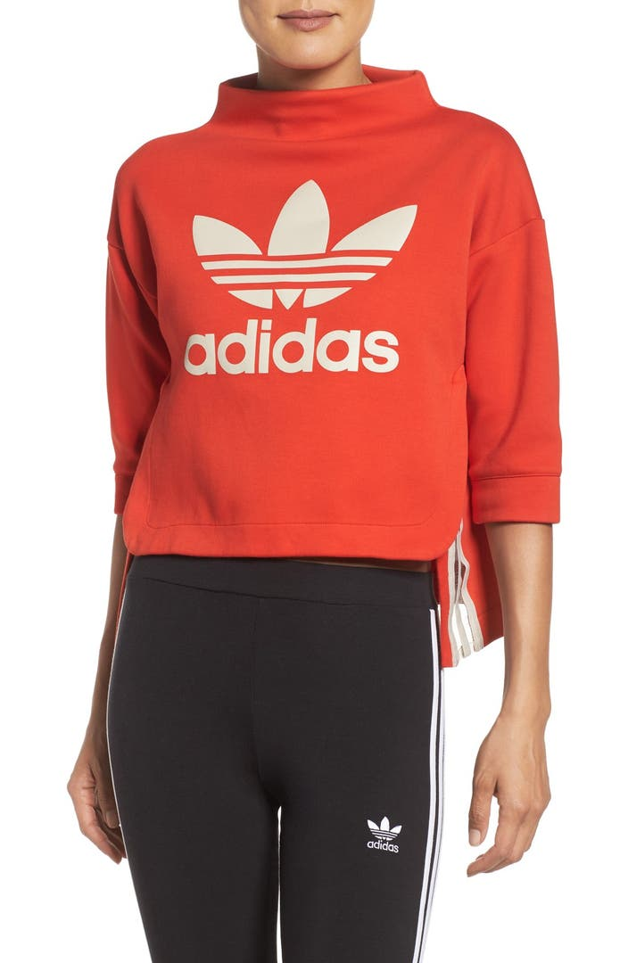 adidas originals mock neck pullover nordstrom. Black Bedroom Furniture Sets. Home Design Ideas