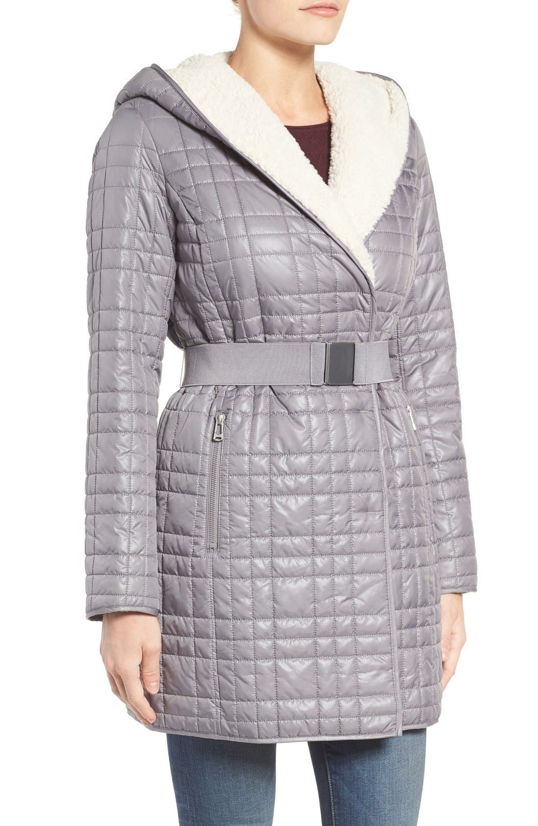 Alternate Image 3  - Kenneth Cole New York Faux Shearling Lined Puffer Coat