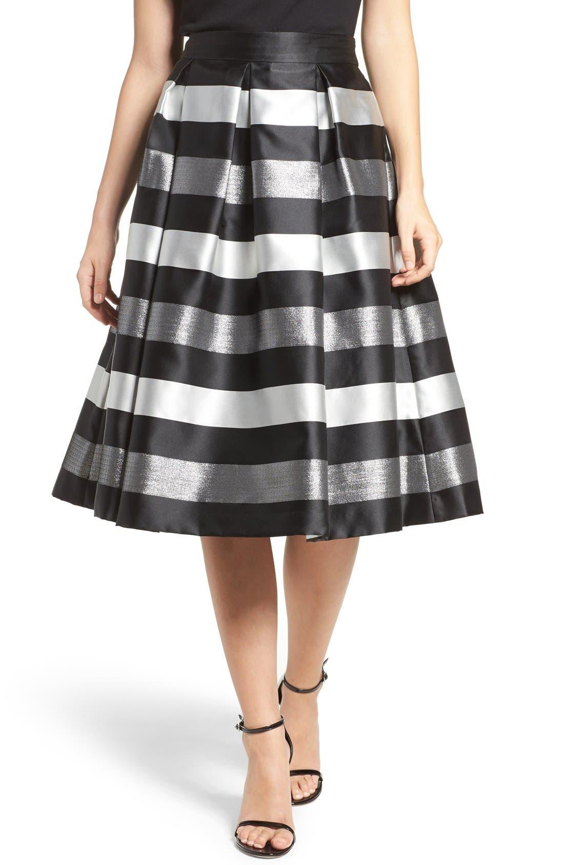 Alternate Image 1 Selected - Eliza J Jacquard Midi Skirt