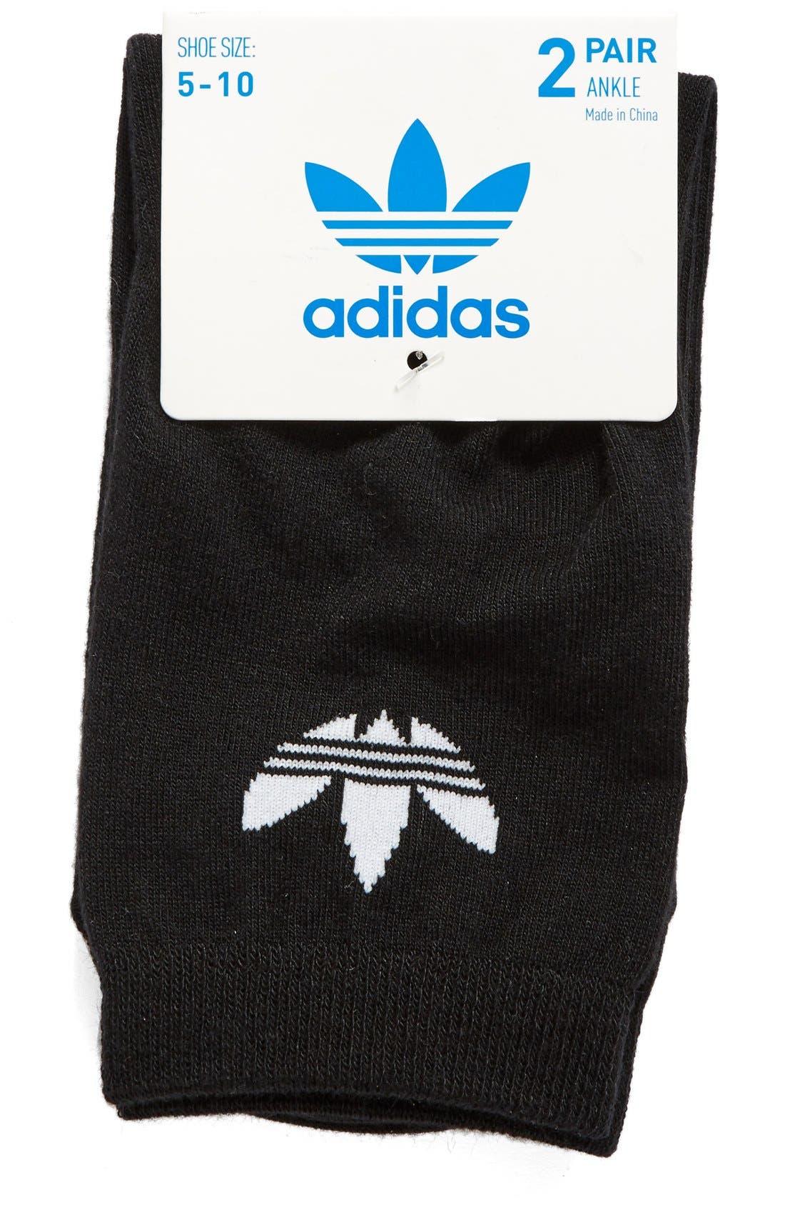 Alternate Image 2  - adidas Trefoil 2-Pack Socks