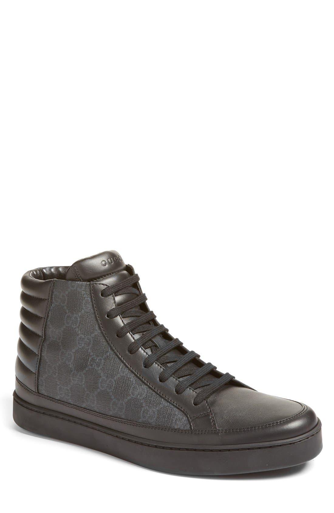 Alternate Image 1 Selected - Gucci 'Common' High Top Sneaker (Men)