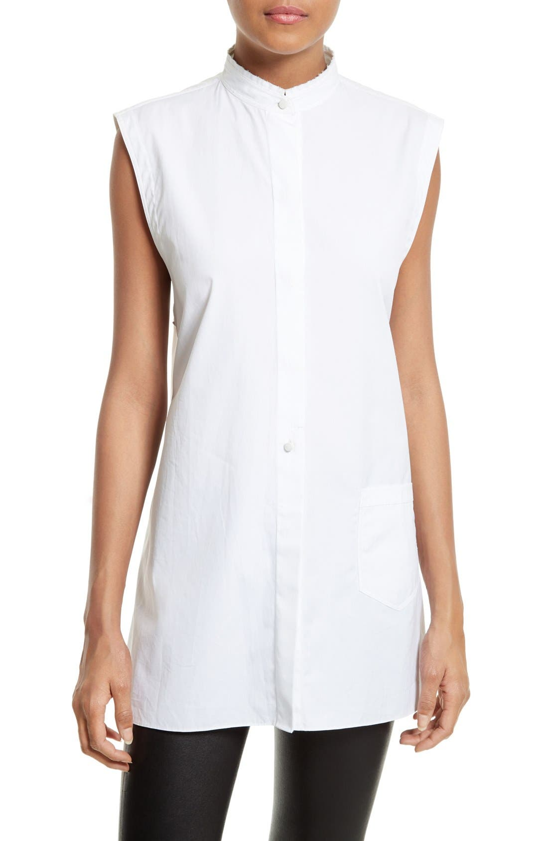 HELMUT LANG Back Tie Cotton Shirt