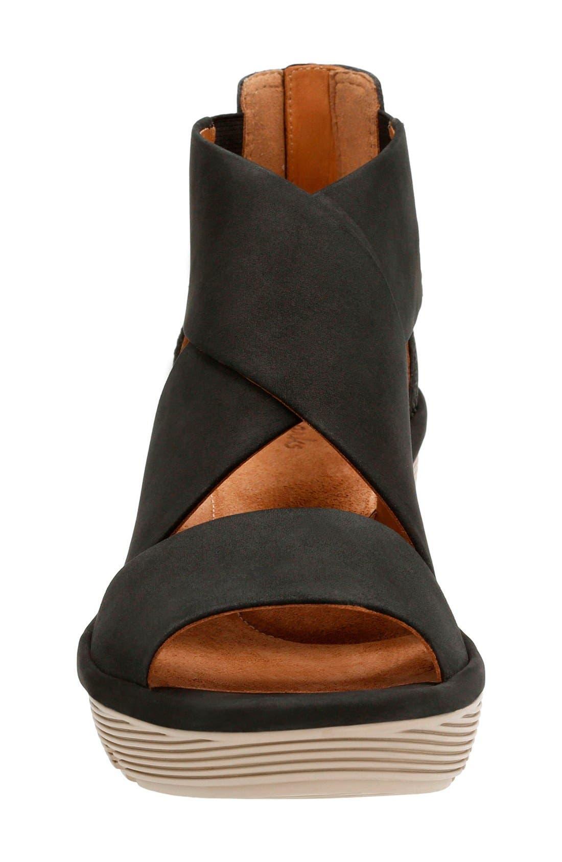 Alternate Image 3  - Clarks® Clarene Glamor Wedge Sandal (Women)