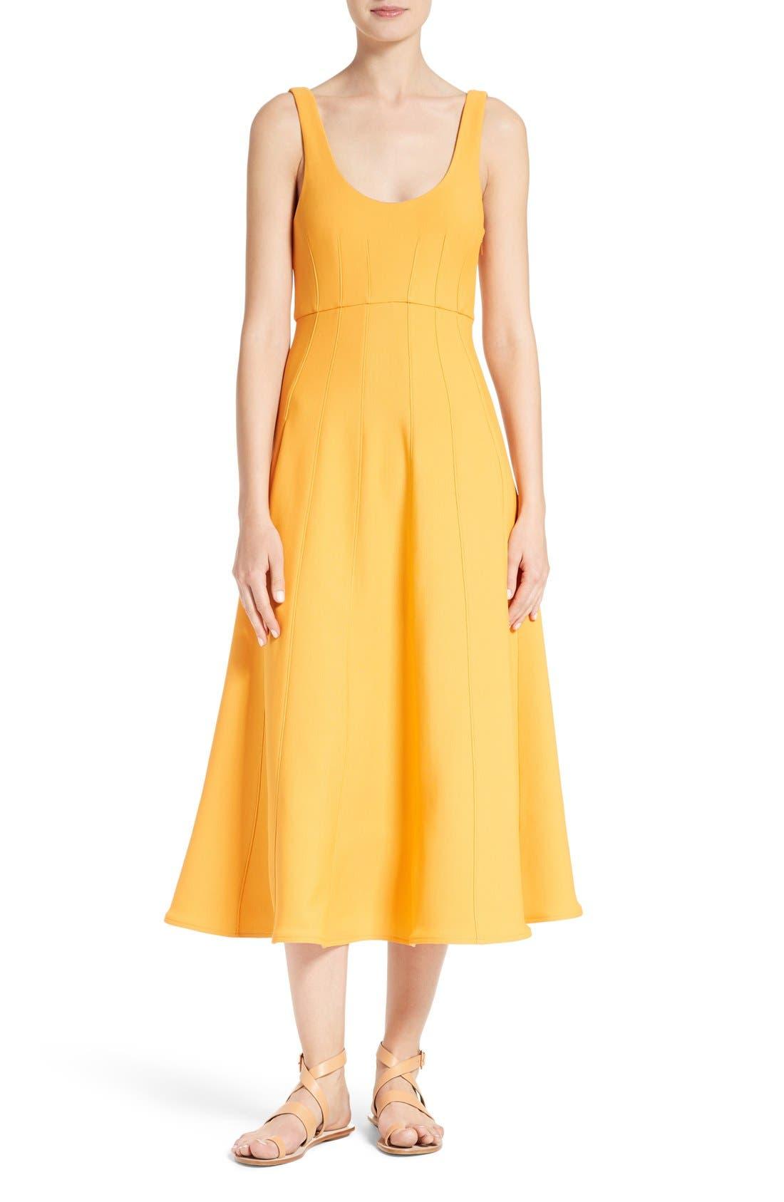 Main Image - Tibi Corset Structured Midi Dress
