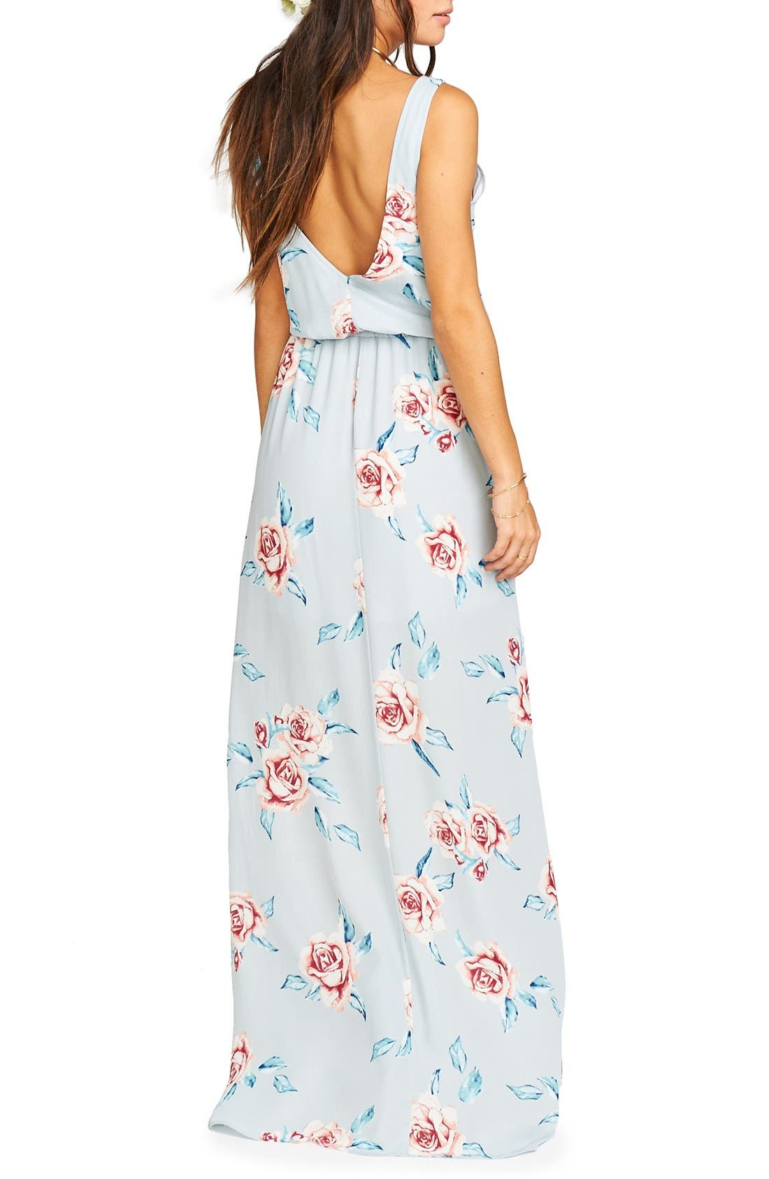 Alternate Image 2  - Show Me Your Mumu Kendall Soft V-Back A-Line Gown