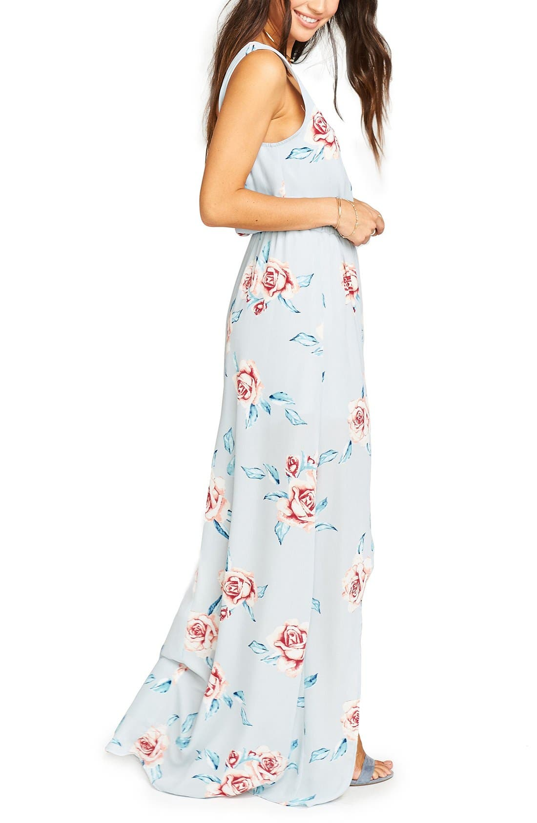 Alternate Image 3  - Show Me Your Mumu Kendall Soft V-Back A-Line Gown