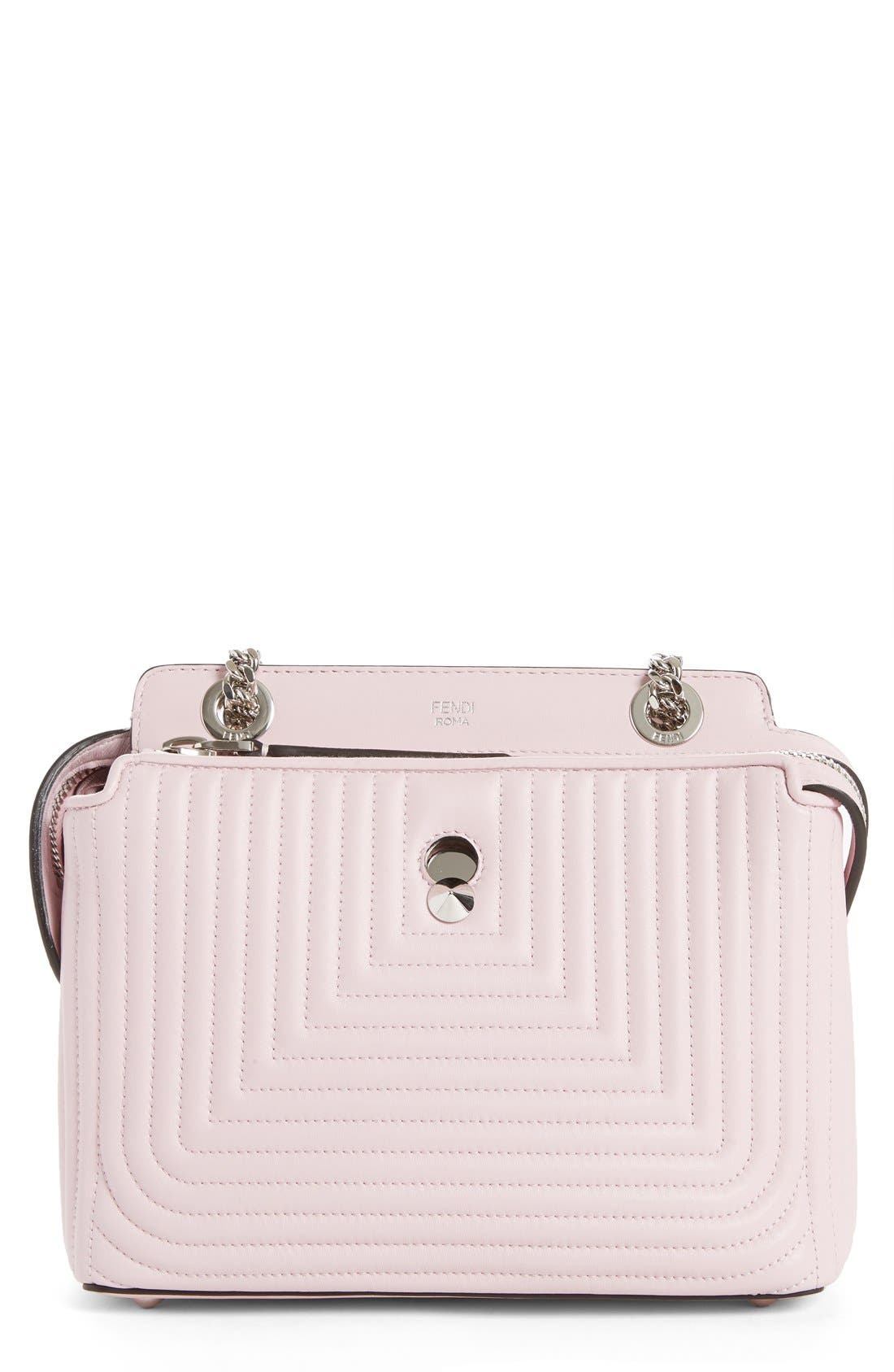 FENDI DOTCOM Click Quilted Leather Shoulder Bag
