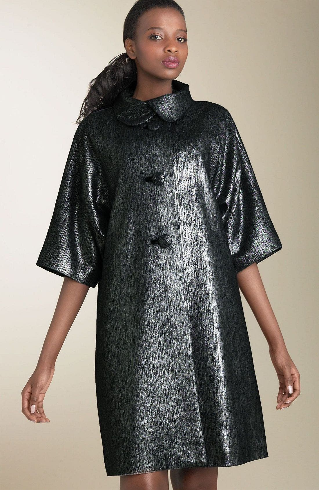 Main Image - Plenty Frock! by Tracy Reese Sharkskin Coat
