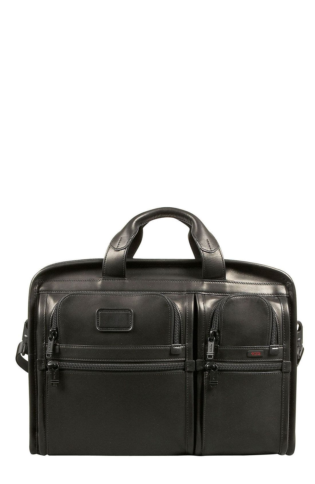 Main Image - Tumi 'Alpha' Compact Leather Large Screen Computer Briefcase