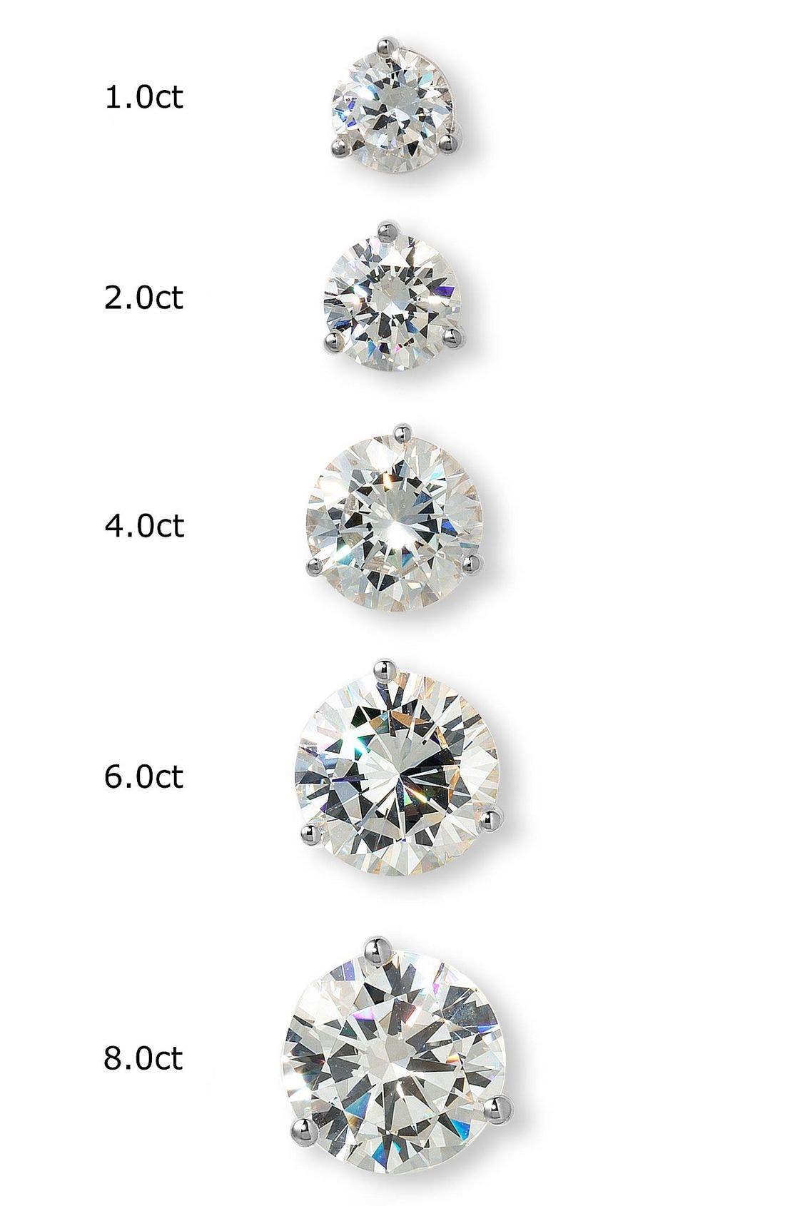 Alternate Image 3  - Nordstrom Precious Metal Plated 6ct tw Cubic Zirconia Earrings