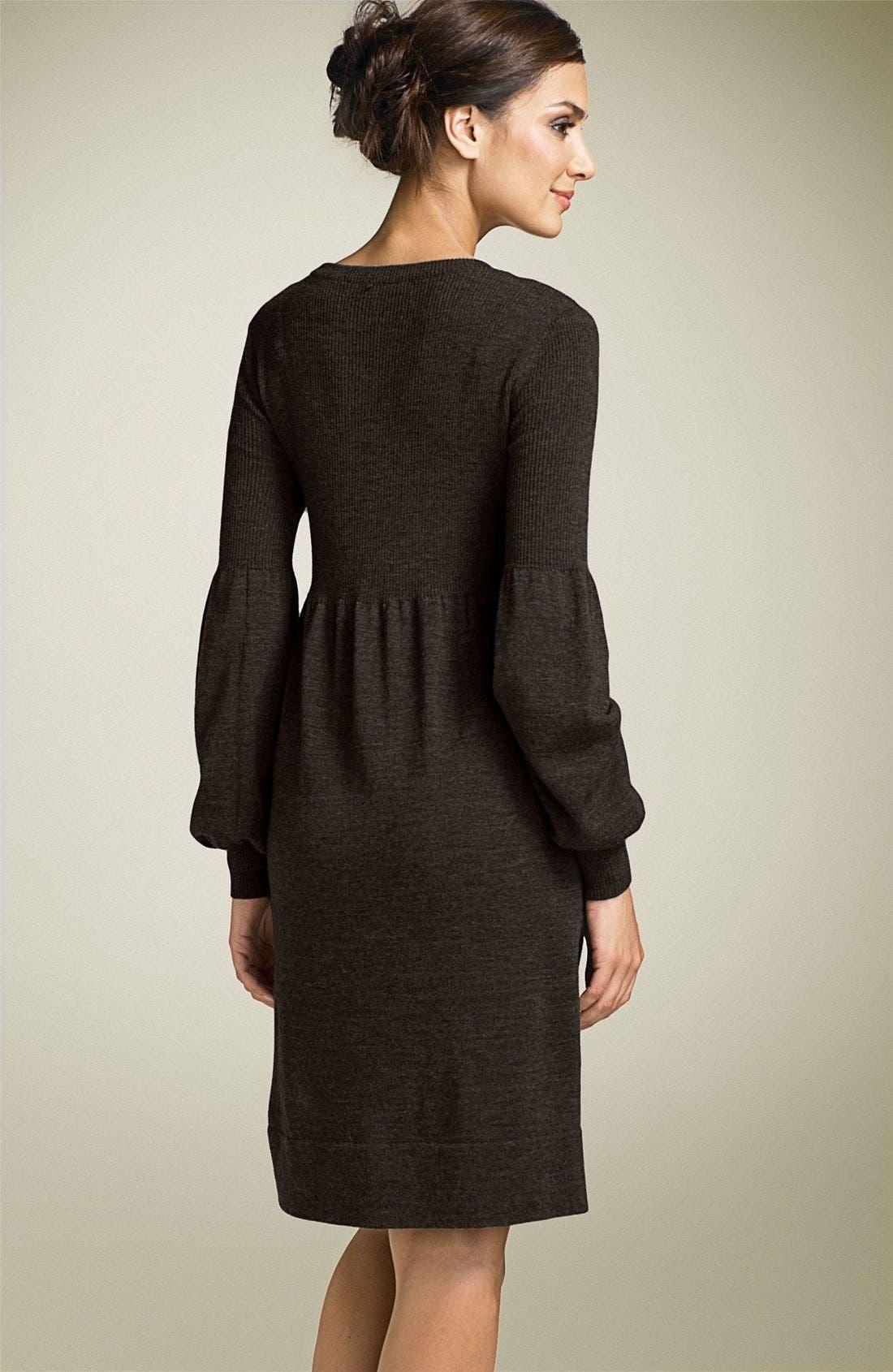 Alternate Image 2  - Calvin Klein Scoop Neck Sweater Dress
