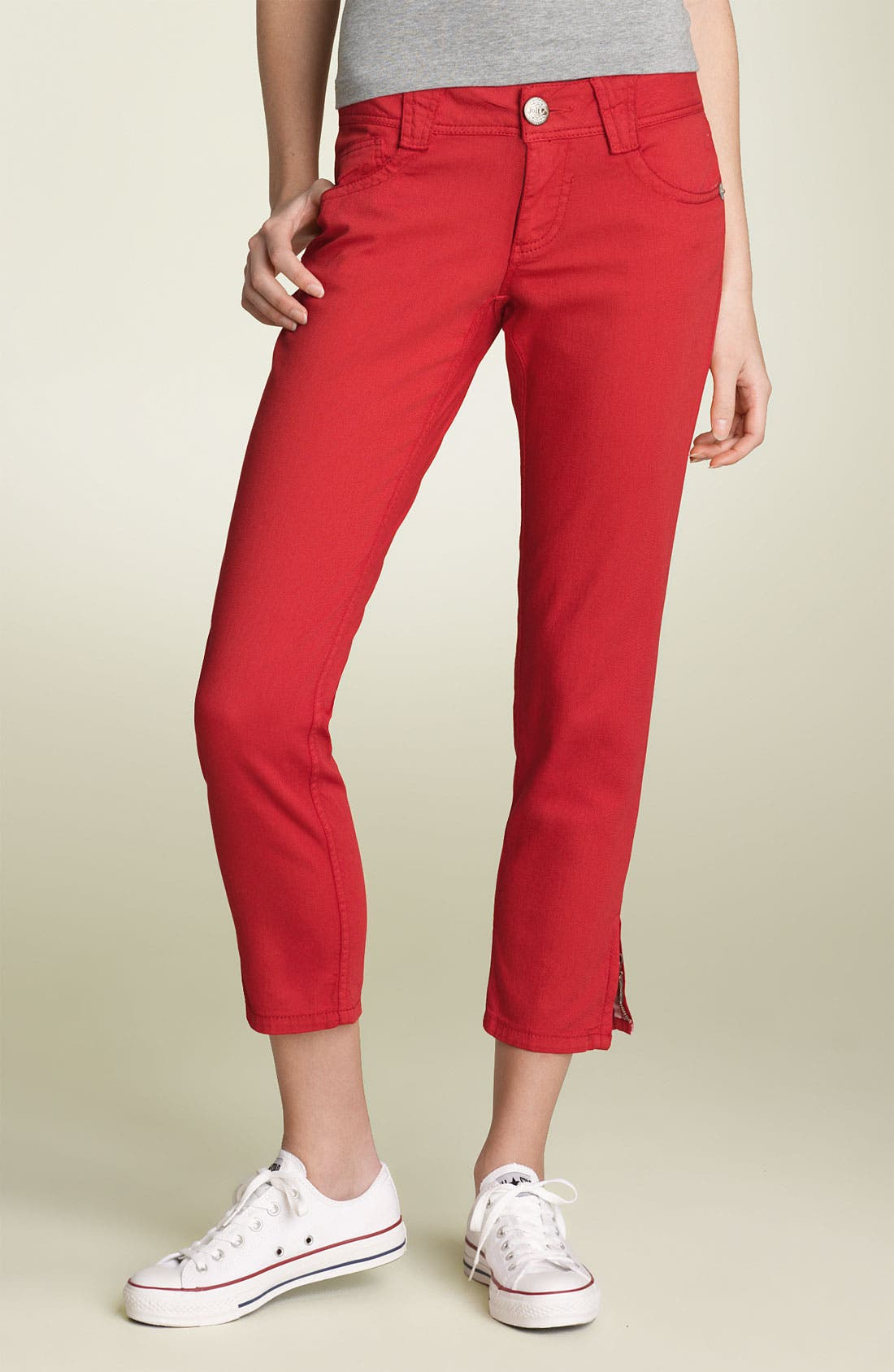 Alternate Image 2  - Jolt Zip Hem Skinny Stretch Jeans (Juniors)