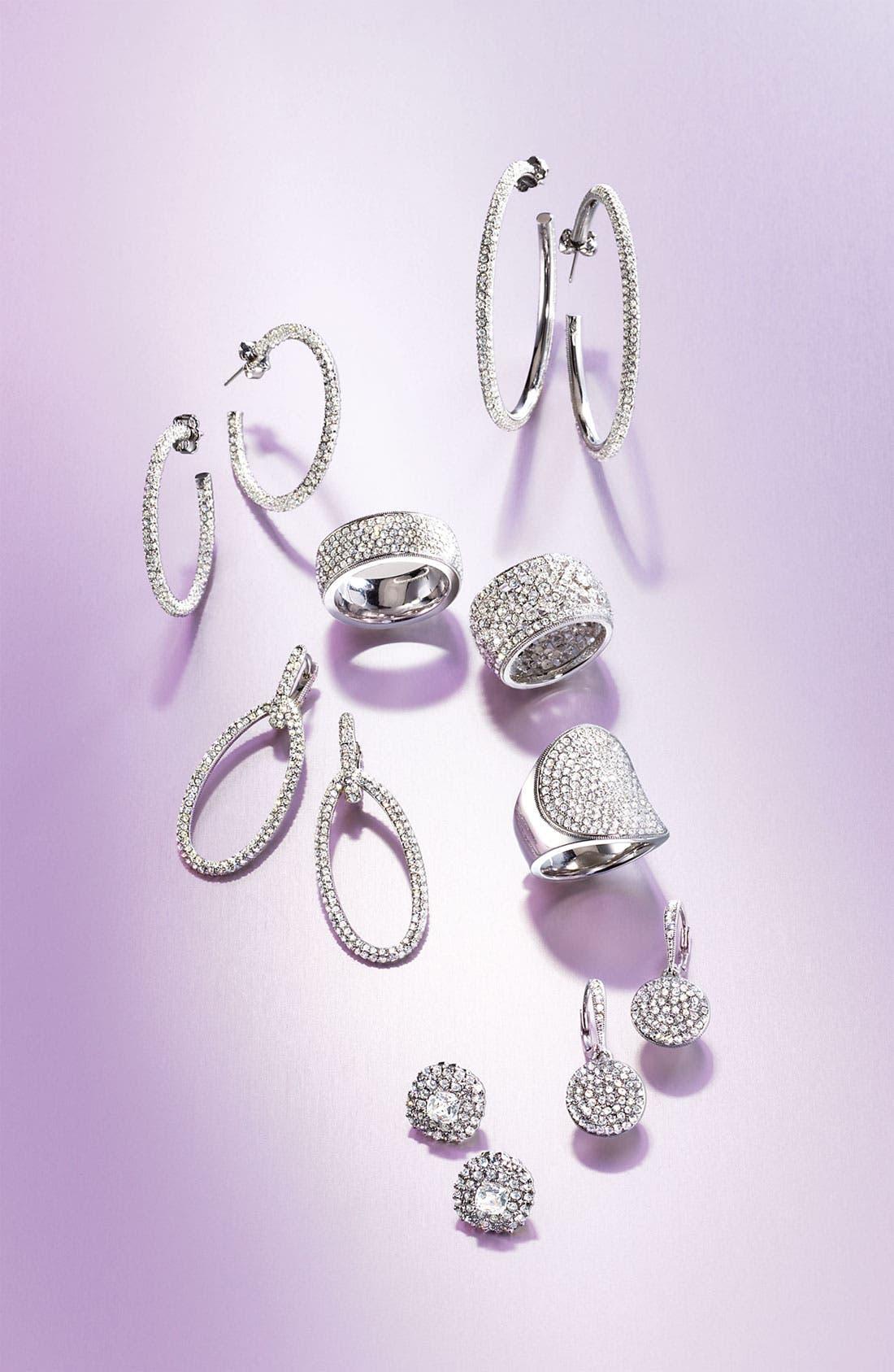 Alternate Image 4  - Nadri Large Pavé Crystal Hoop Earrings