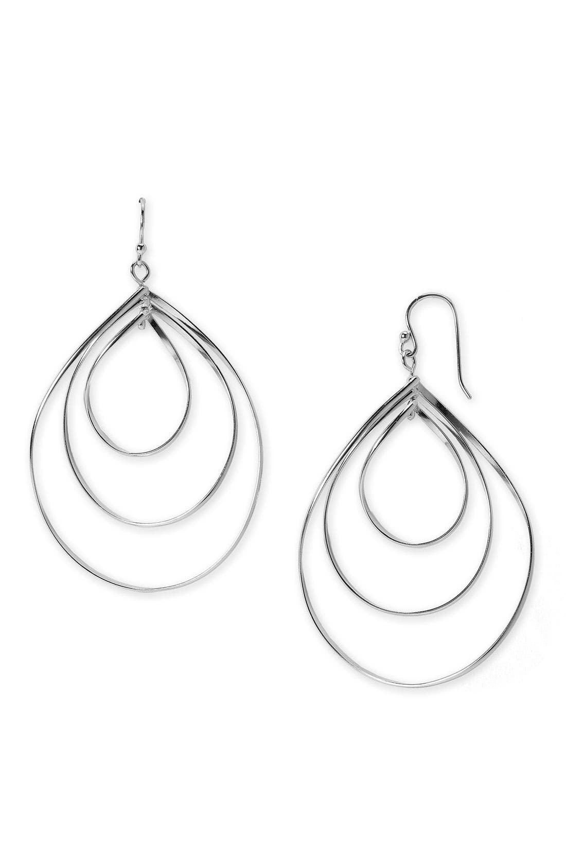 Main Image - Argento Vivo Triple Teardrop Earrings