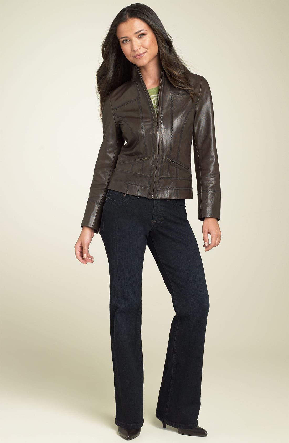 Alternate Image 4  - Caslon® Distressed Leather Jacket