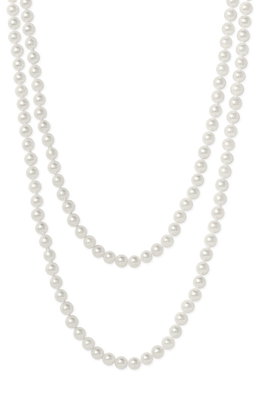 Alternate Image 1 Selected - Mastoloni Akoya Baroque 7mm Pearl Long Strand Necklace