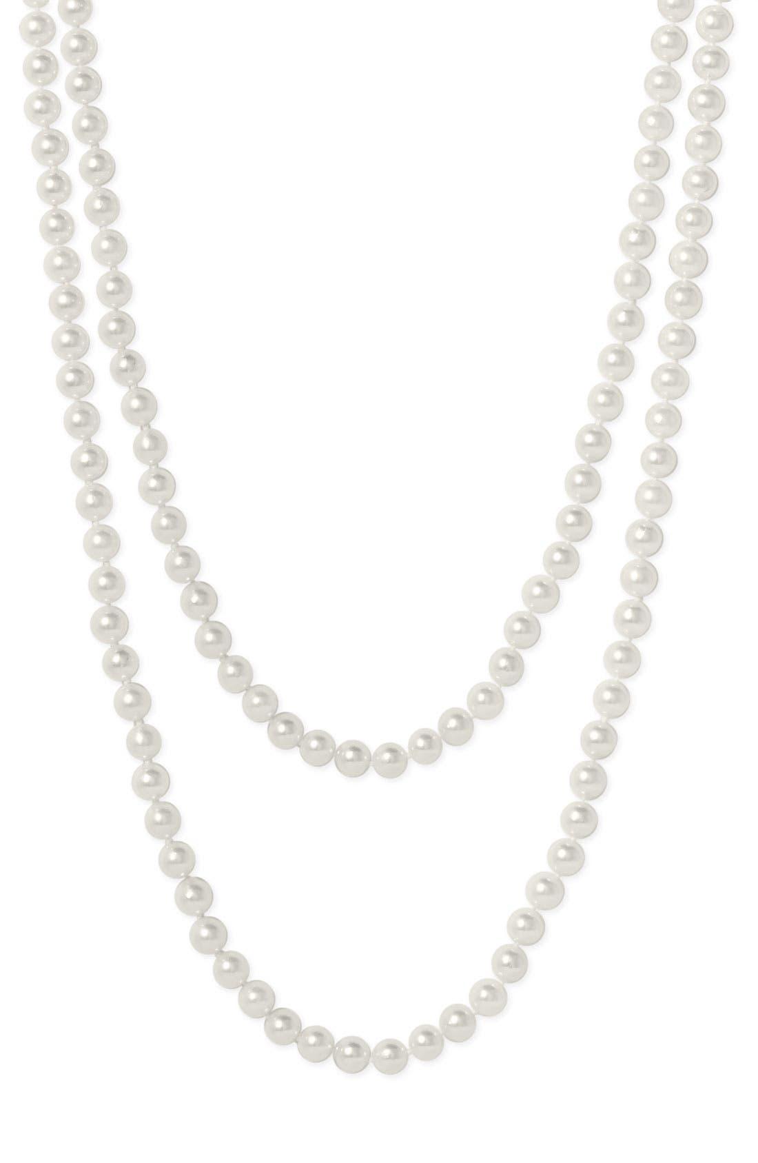 Main Image - Mastoloni Akoya Baroque 7mm Pearl Long Strand Necklace