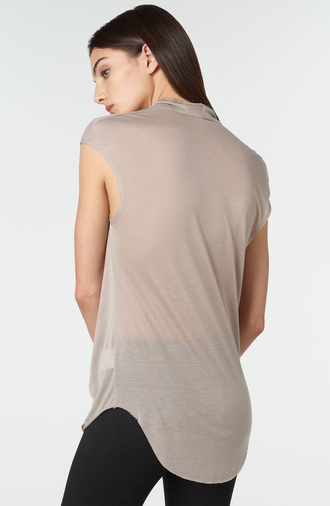 Alternate Image 2  - Helmut Lang Drape Front Jersey Top