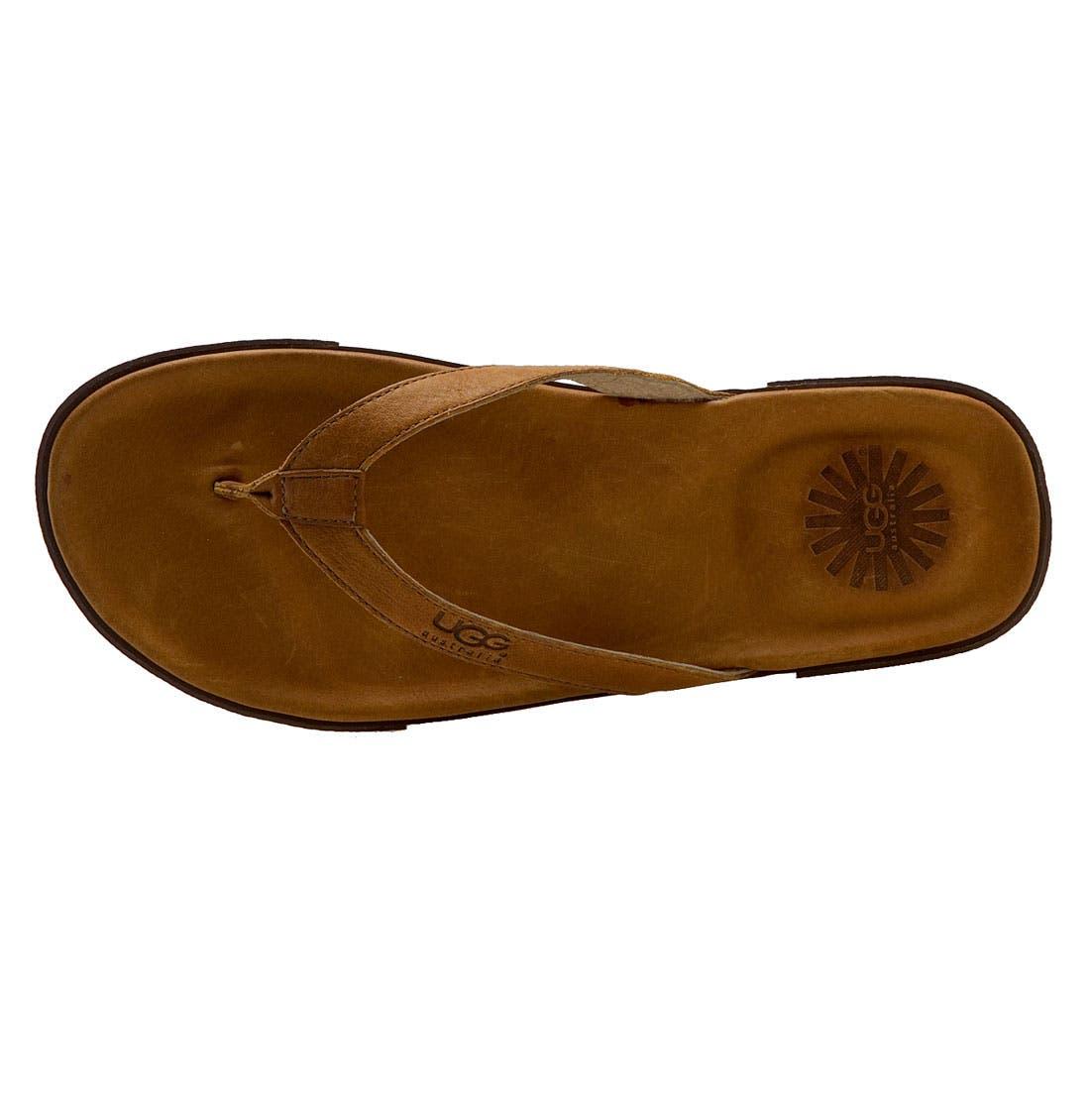 Alternate Image 3  - UGG® Australia 'Bennison' Flip Flop (Men)