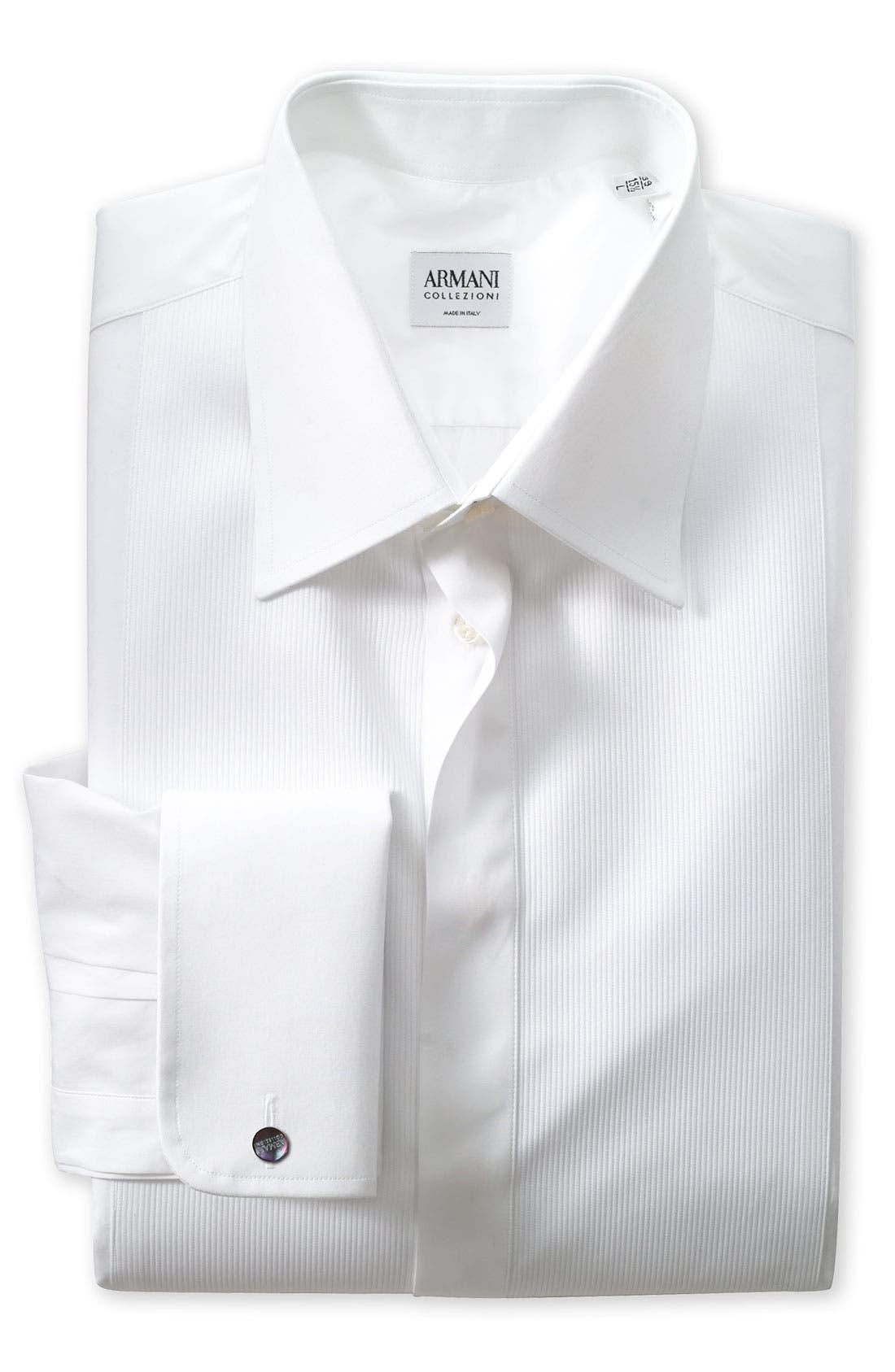 Main Image - Armani Collezioni Modern Fit Tuxedo Shirt