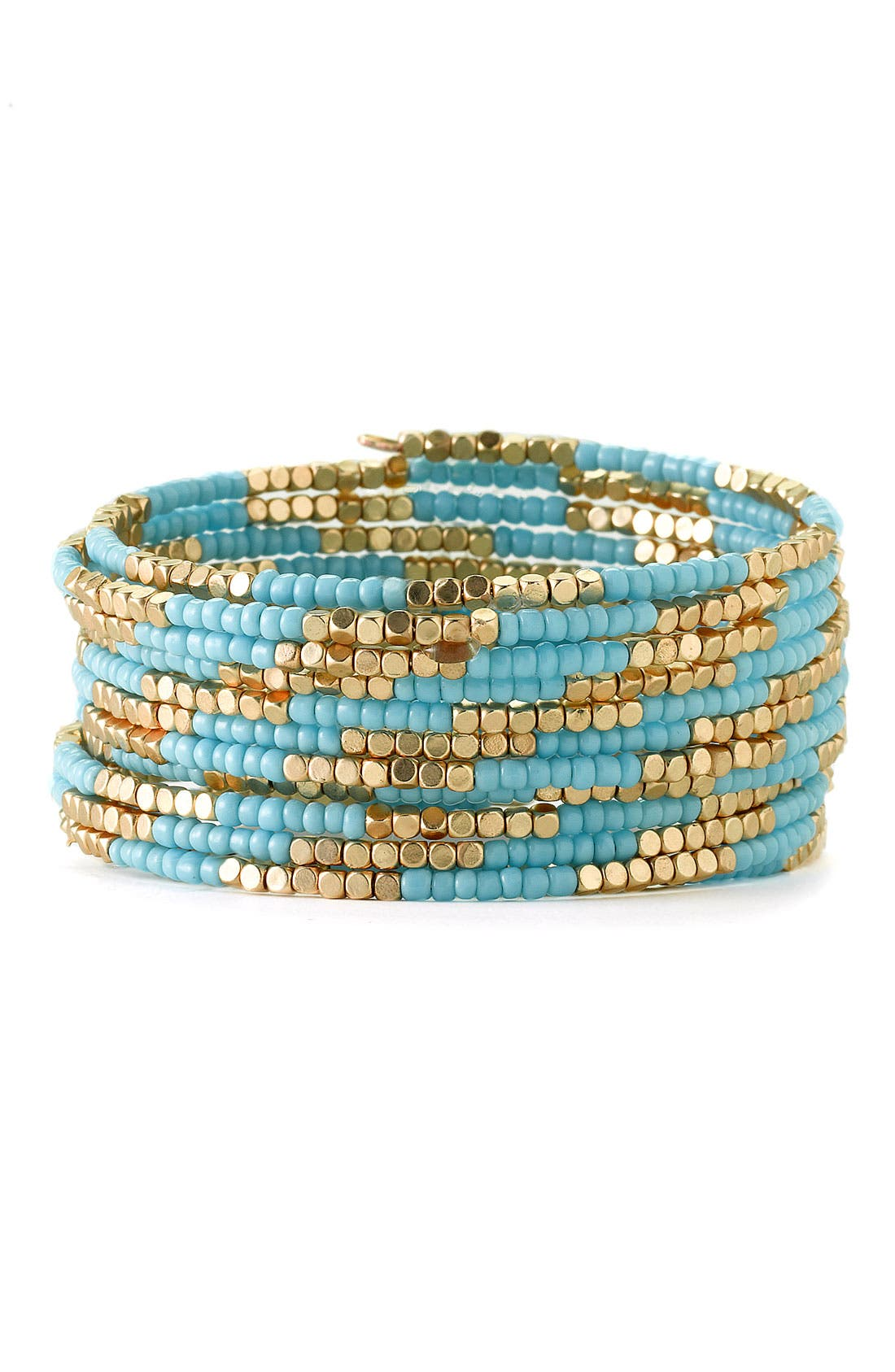 Alternate Image 1 Selected - Cara Accessories Beaded Coil Bracelet