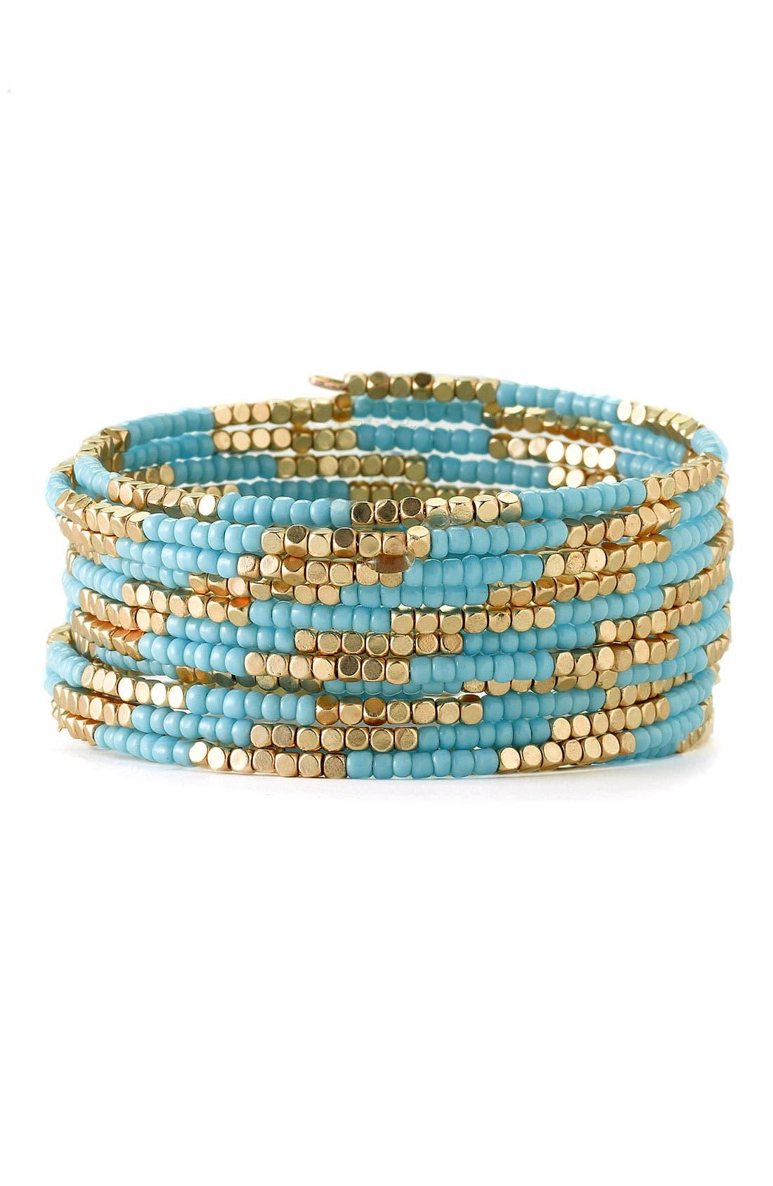Main Image - Cara Accessories Beaded Coil Bracelet