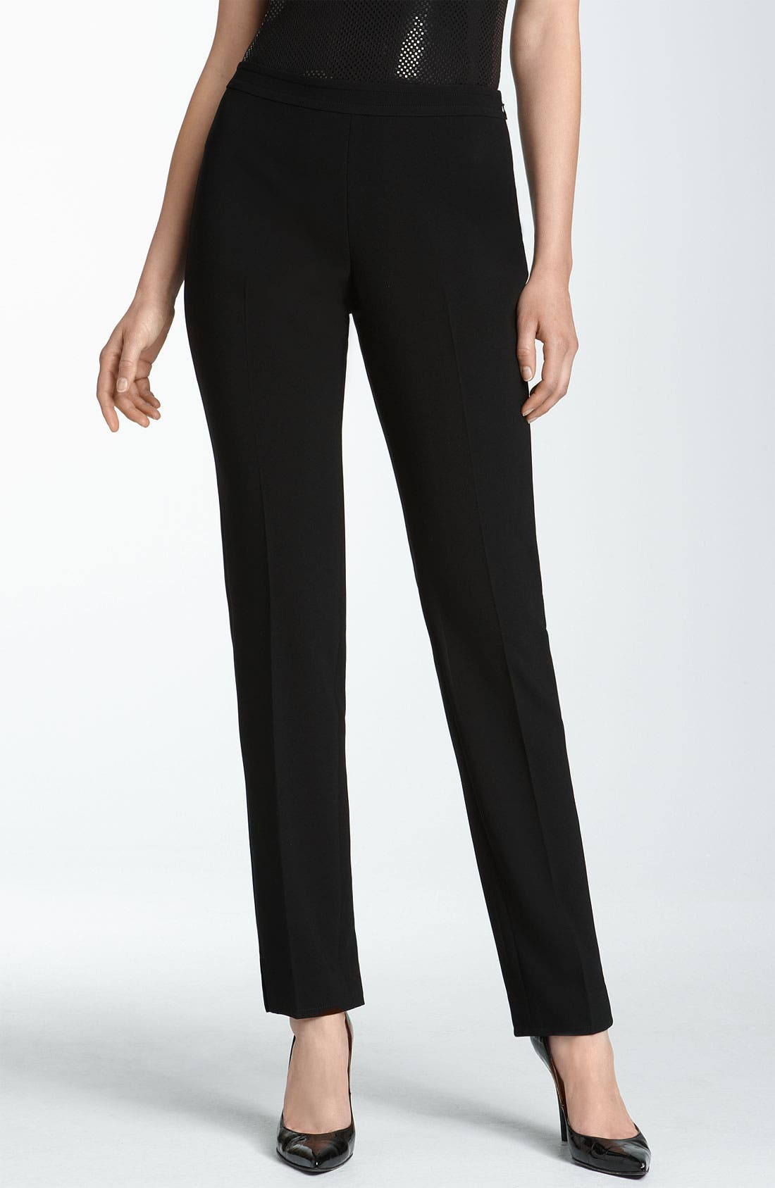 Alternate Image 1 Selected - St. John Collection Crepe Marocain Ankle Pants