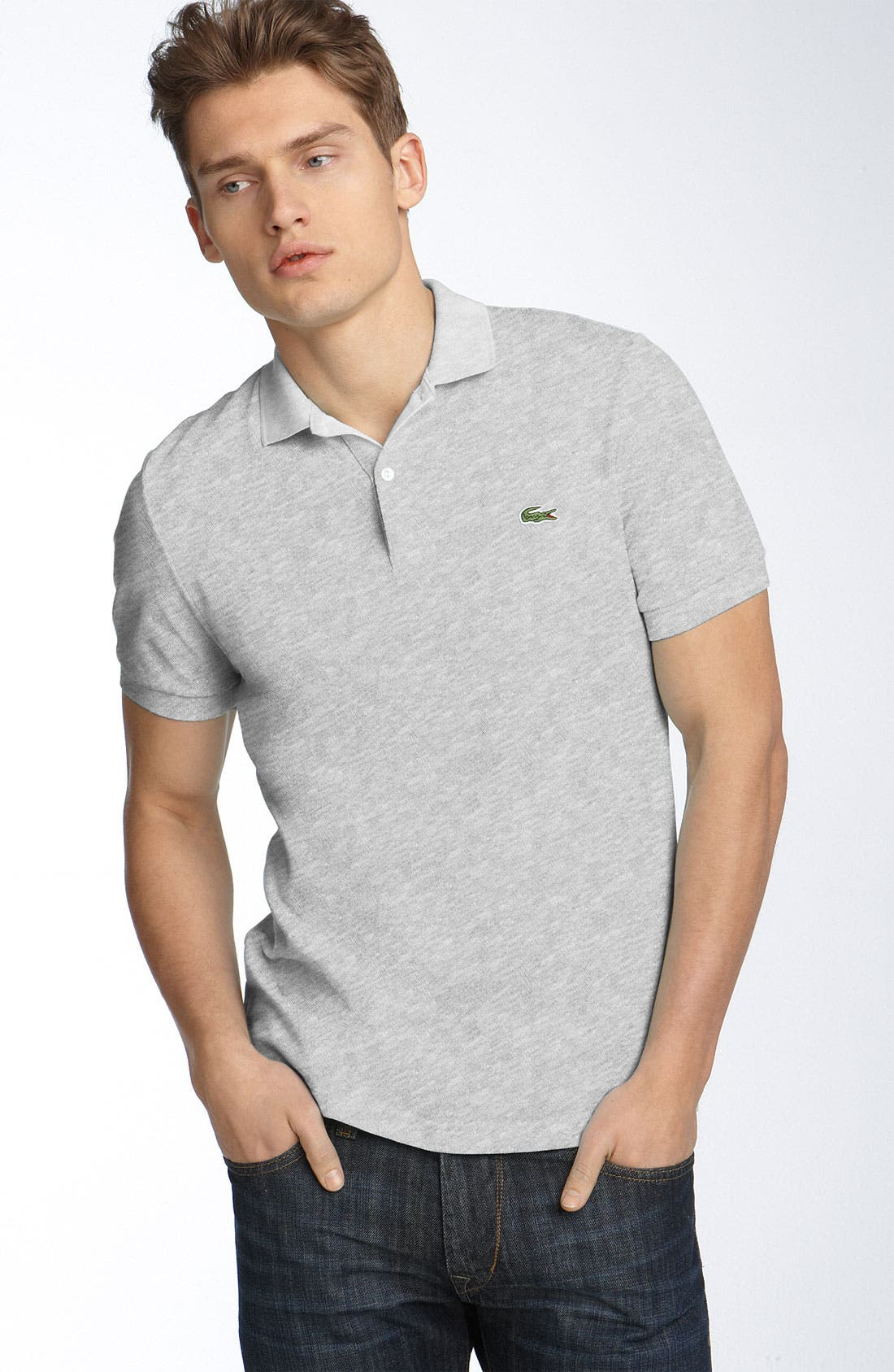 Main Image - Lacoste L!VE Trim Fit Piqué Polo
