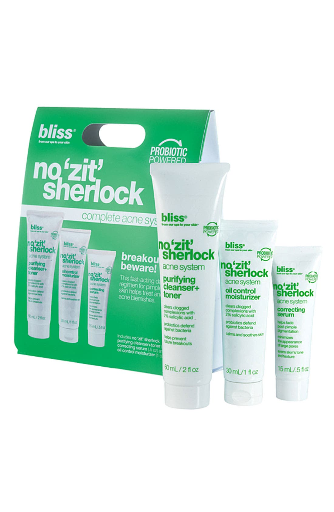 Main Image - bliss® 'No Zit Sherlock' Complete Acne System ($47 Value)