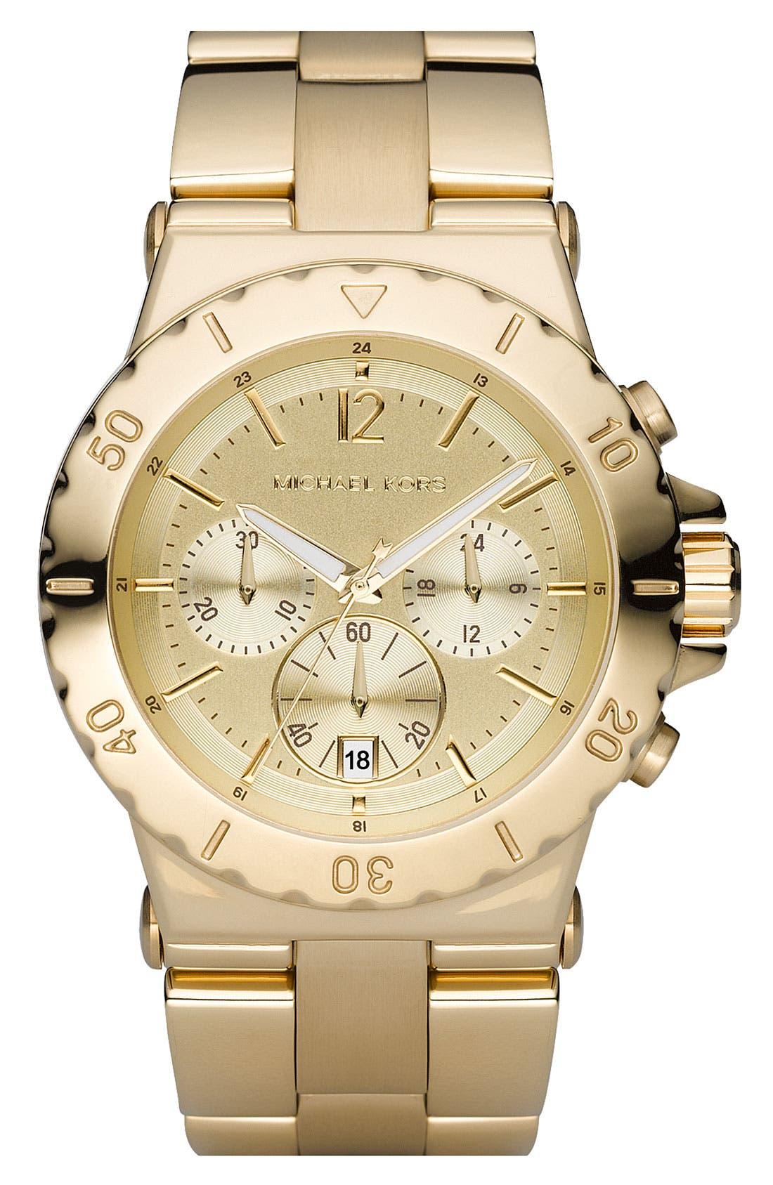 Main Image - Michael Kors Rose Gold Chronograph Watch, 42mm