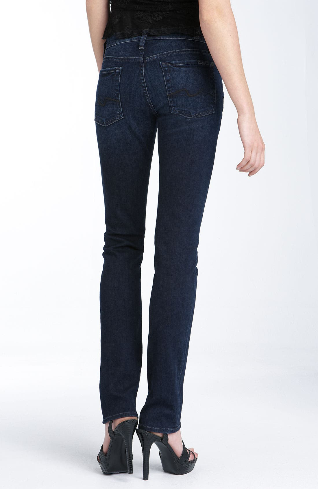 Alternate Image 1 Selected - 7 For All Mankind® 'Roxanne' Skinny Stretch Jeans (Dear Coco Wash)