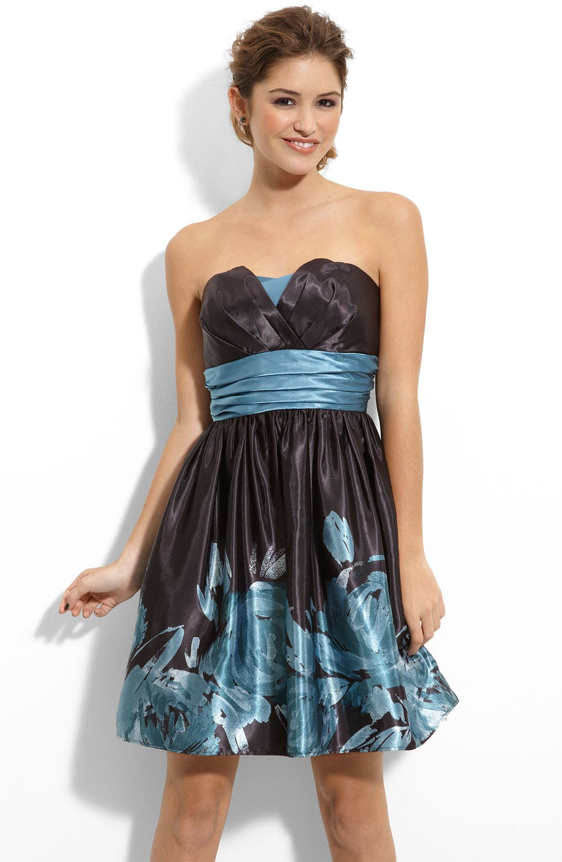 Main Image - Trixxi Floral Origami Dress (Juniors)