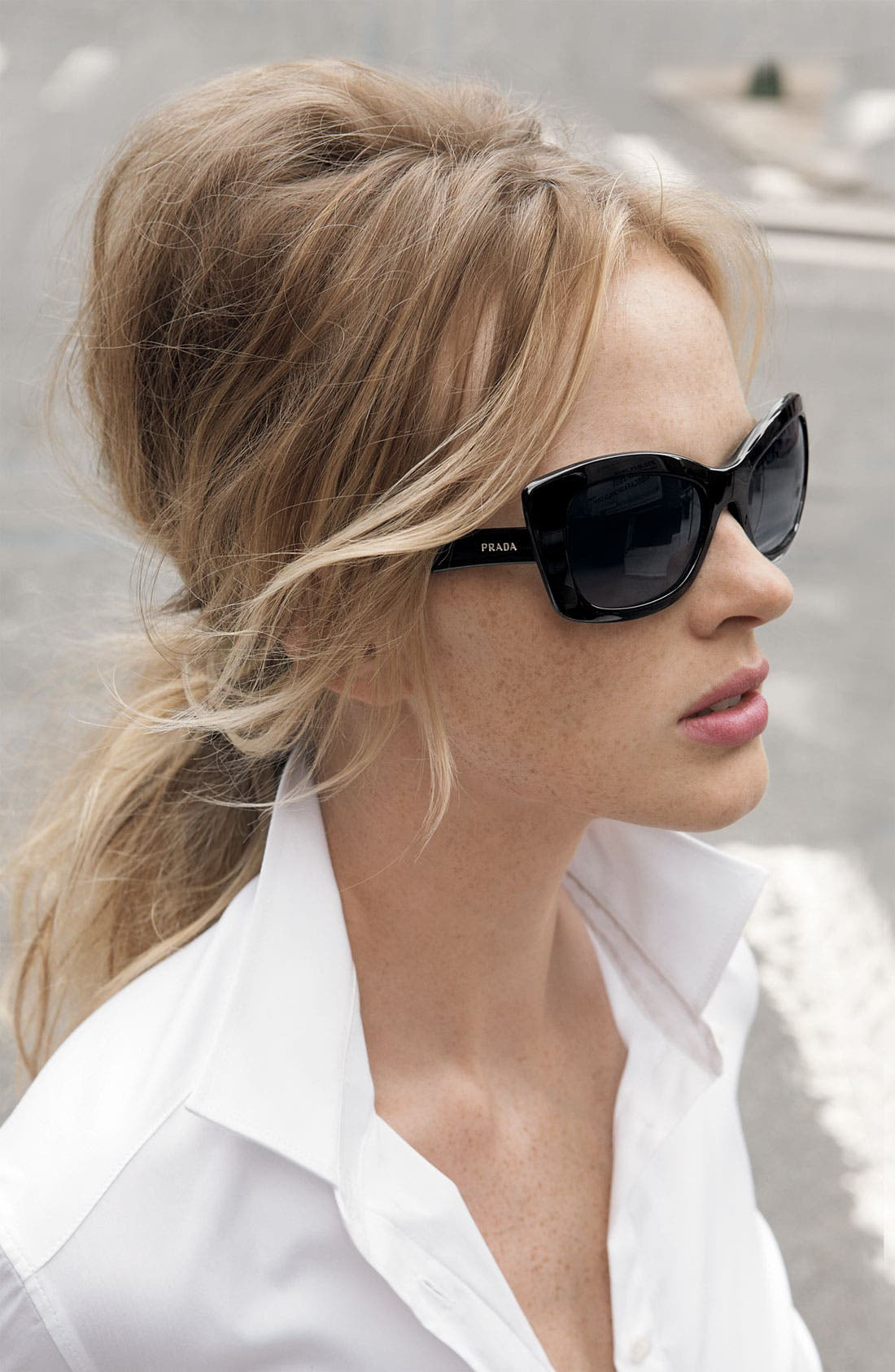 Alternate Image 2  - Prada Rectangular Cat's Eye Sunglasses