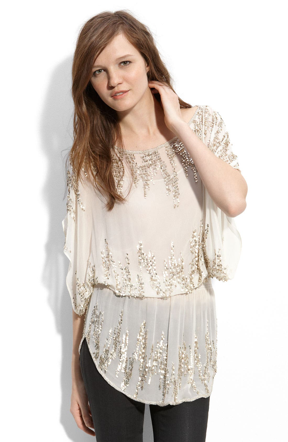 Alternate Image 1 Selected - Parker Embellished Silk Tunic