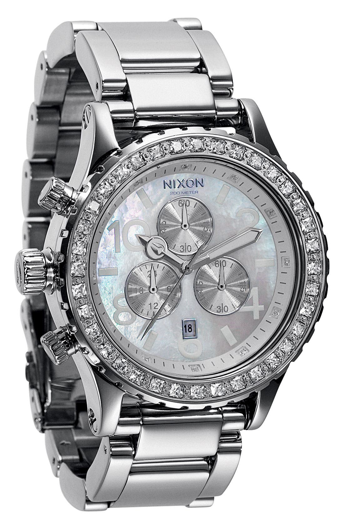Main Image - Nixon 'The 42-20 Chrono' Crystal Bezel Watch, 42mm
