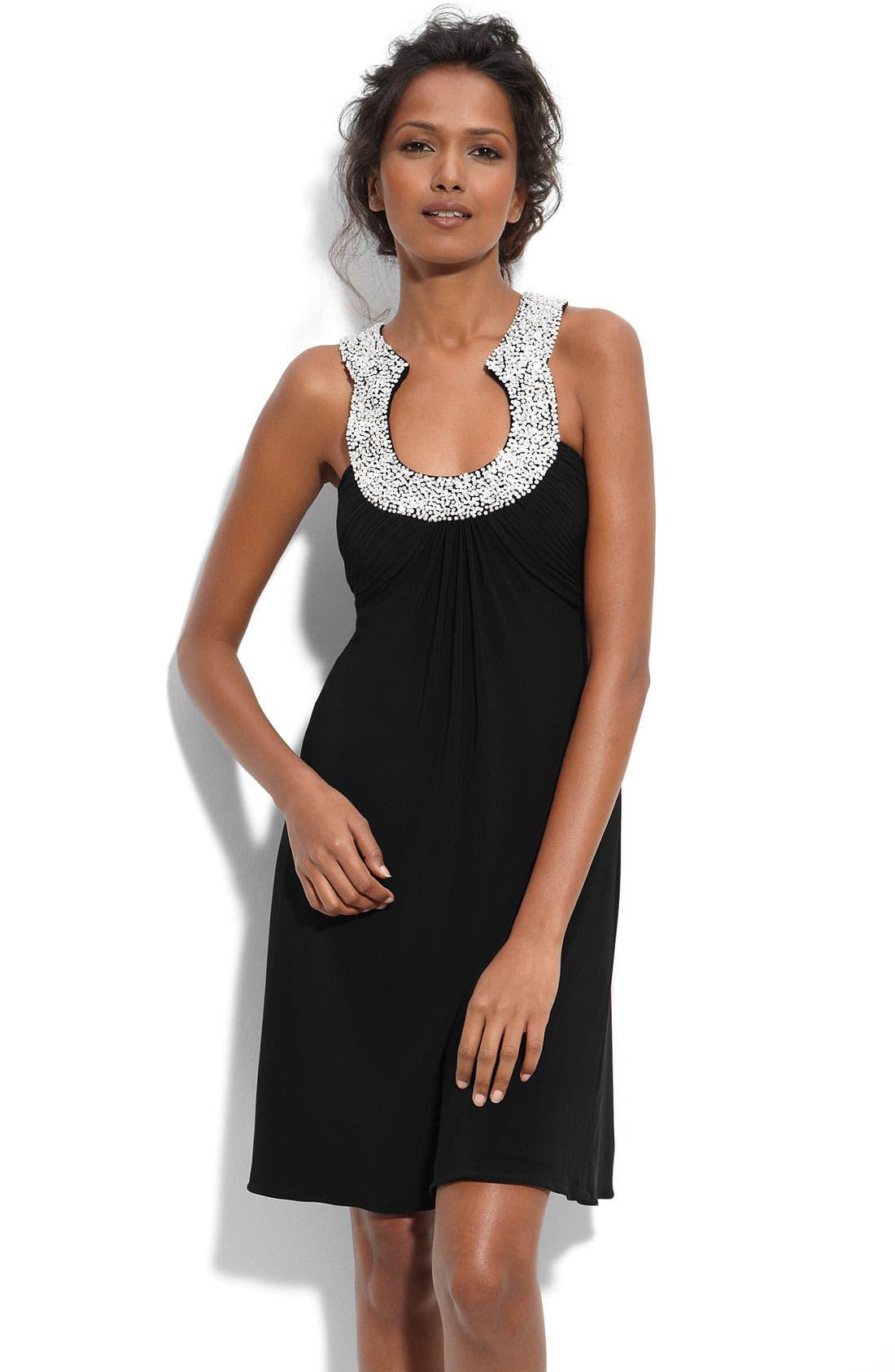 Alternate Image 1 Selected - JS Boutique Embellished Matte Jersey Dress