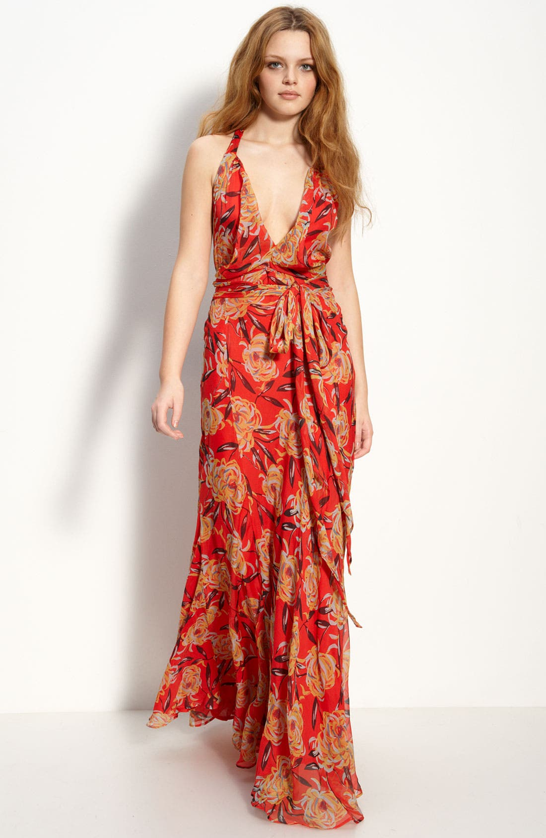 Alternate Image 1 Selected - Winter Kate 'Harlequin' Chiffon Maxi Dress