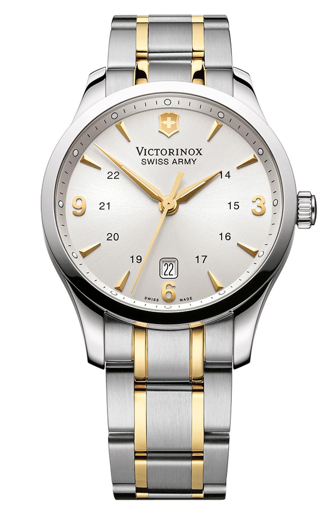 Alternate Image 1 Selected - Victorinox Swiss Army® 'Alliance' Large Bracelet Watch, 40mm