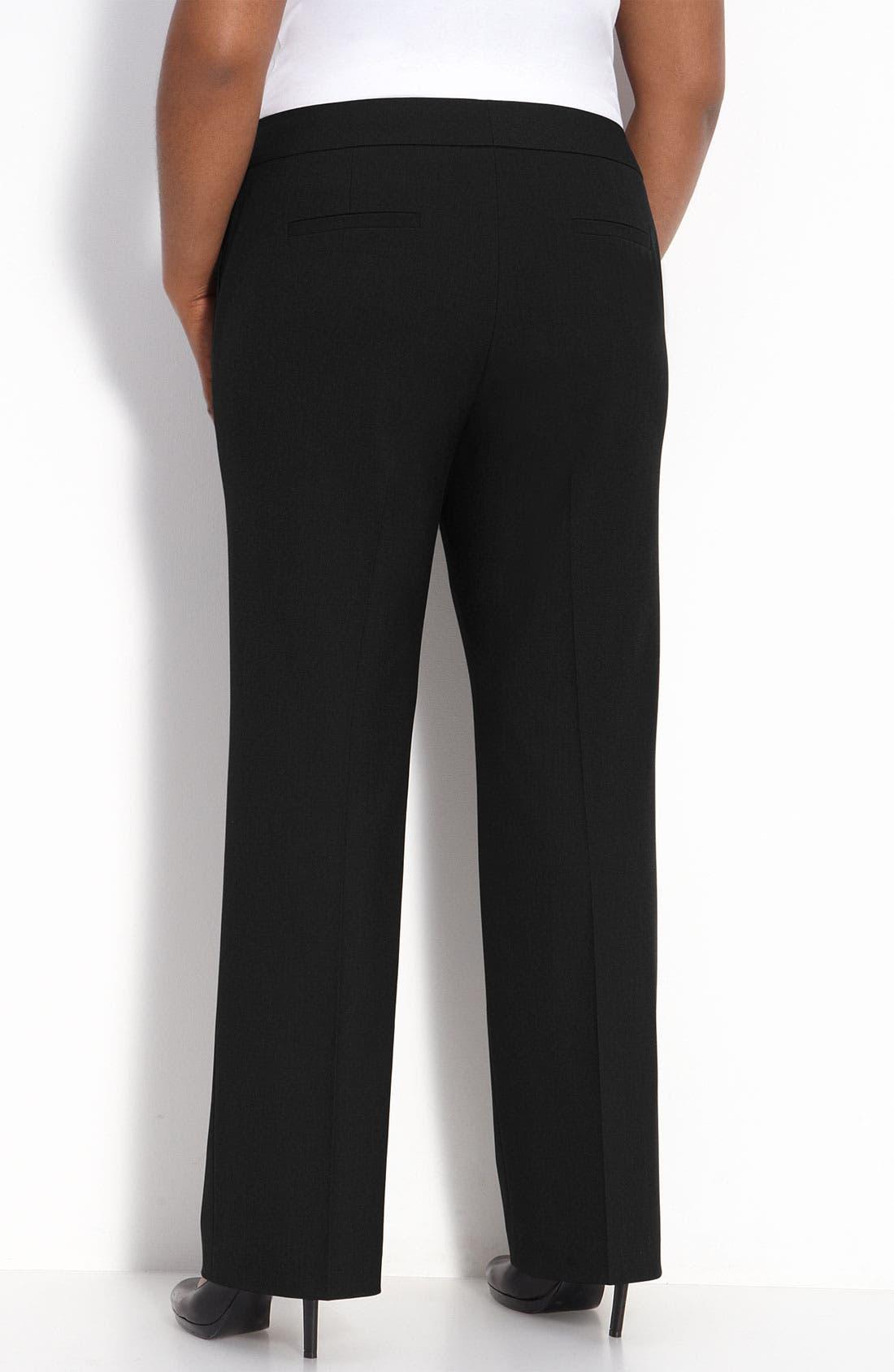 Alternate Image 2  - Sejour Straight Fit Trousers (Petite Plus)